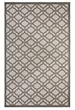 """Cheap Outdoor Mats Flat weave Indoor Outdoor Rugs with Contemporary Festival Design Area Rugs Patio Rug Flooring Carpets (9×12-8'10""""x11'9"""", Gray)"""