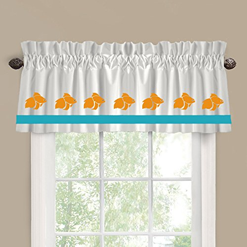 Koi Goldfish Fish Window Valance / Window Treatment - In Your Choice of Colors - Custom Made