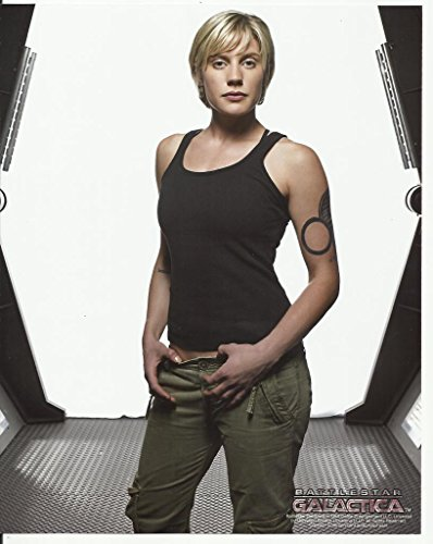 Battlestar Galactica Katee Sackhoff Tank Top Belt in Hallway 8 x 10 Photo