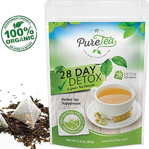 PureTea Detox Tea, Gentle Diet Tea Detox, Herbal Weight Loss Tea, Body Cleanse and Appetite Control, Healthy Detox for Weight Loss, Natural Products and Supplements for Women and Men - 28 Tea Bags