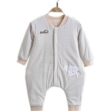 TUWEN Saco de Dormir de bebé de Primavera y otoño Pata Saco niño Saco de Dormir Anti-Kick es Manga Desmontable: Amazon.es: Jardín