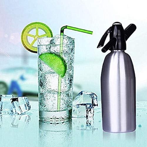 Cimoto Diy Soda Water Siphon Home Drink Juice Machine Bar Beer Soda Syphon Maker Steel Bottle Foam Cylinders Co2 Injector