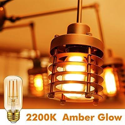 Emotionlite LED Light Bulbs, E26 Dimmable Vintage Edison LED Bulb
