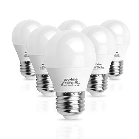 Aooshine A15 Led Bulbs 6 Watts 60 Watts Globe Light Bulb Equivalent
