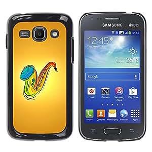 Be Good Phone Accessory // Dura Cáscara cubierta Protectora Caso Carcasa Funda de Protección para Samsung Galaxy Ace 3 GT-S7270 GT-S7275 GT-S7272 // Saxophone Music