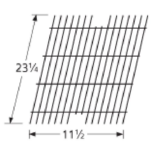 Music City Metals 54911 Porcelain Steel Wire Cooking Grid Replacement for Select Viking Gas Grill Models (Viking Grill Outdoor Parts)