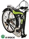 Bicicleta Plegable Ultra Ligera Krock Retro Vintage R22 Velocidades Shimano Color Negro