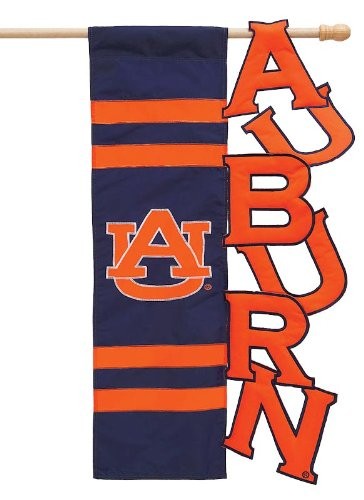 NCAA Auburn Tigers Navy Blue-Orange Cut-Out Applique Garden Flag