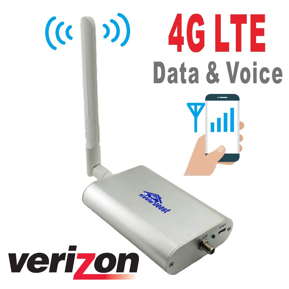 Roomboost 700MHz Verizon Cell Phone Signal Booster for Home and Office 4G LTE Band13 Mobile Phone Signal Amplifier Including 45 Feet RG58 Cable Repeater Full Kit