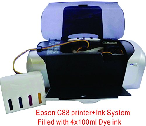 15x15'' Flat Heat Press A4 Epson Printer Paper Ink CISS Start-up KIT T-shirts by TRANSGERWORLD (Image #4)