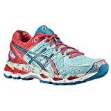 ASICS Women's Gel kayano 21 Running Shoe,Powder Blue/White/Hot Pink,6.5 M US