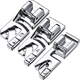 #5: Boao 3 Pieces Narrow Rolled Hem Sewing Machine Presser Foot Set Suitable for Household Multi-Function Sewing Machines (3 mm, 4 mm and 6 mm)