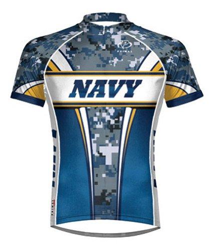 Primal Wear Navy Camo Cycling Jersey Men's Short Sleeve USN