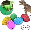 Jofan 24pcs Novelty Magic Large Size Crack Easter Dinosaur Eggs Hatching Toy with Mini Toy Dinosaur Figures Inside for Kids Stocking Stuffers