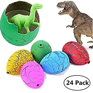 Jofan 24pcs Dinosaur Eggs That Hatch Growing Toys with Mini Dinosaur Figures Inside for Kids Boys Girls Easter Basket Stuffers Fillers Easter Gifts