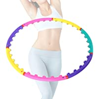 brrnoo Hula Hoop Detachable Ring Magnetic Exercise Sports Tool Diameter 98 cm, 86 cm Waist Tightening Aerobic Exercise (7 Knots)