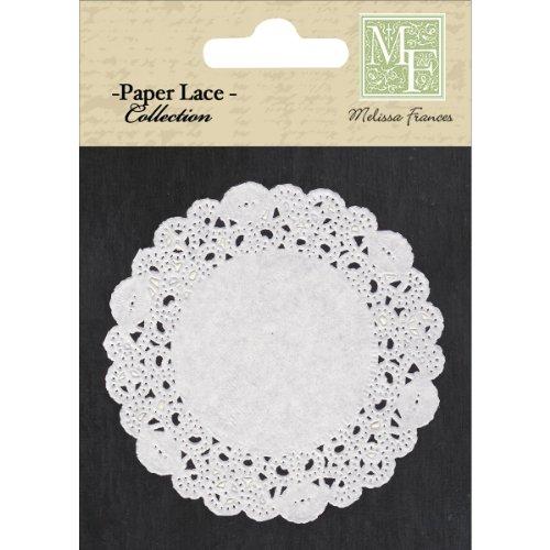 Melissa Frances DS001 Paper Lace Doily, 4-Inch, White, 20-Pack