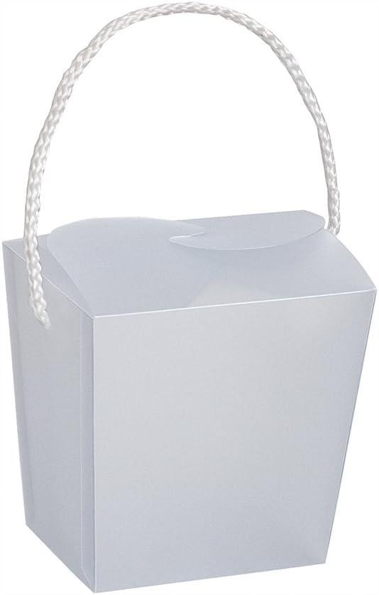Unique Plastic Clear Frosted Favor Box, 1 Ct, 7.25