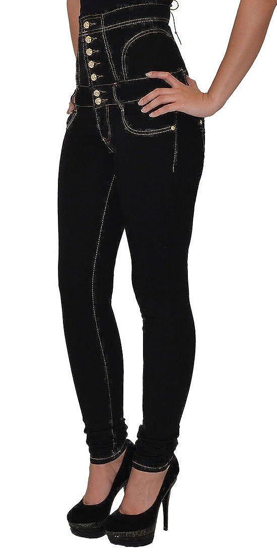 4330d9d554 Womens High Waist M-904 Lace Up Back Denim Corset Stretch Jeans Size -16   Amazon.co.uk  Clothing