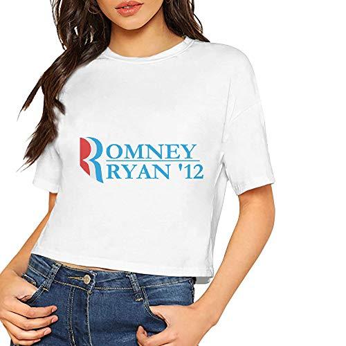 (JiJingHeWang Women's Romney Ryan 2012 Short Sleeves Lumbar Tshirts)