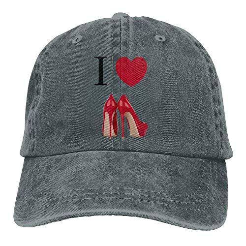 No Soy Como Tu Gorras béisbol I Love Red High Heel Shoe Denim Hat Adjustable Women Plain Baseball Hats