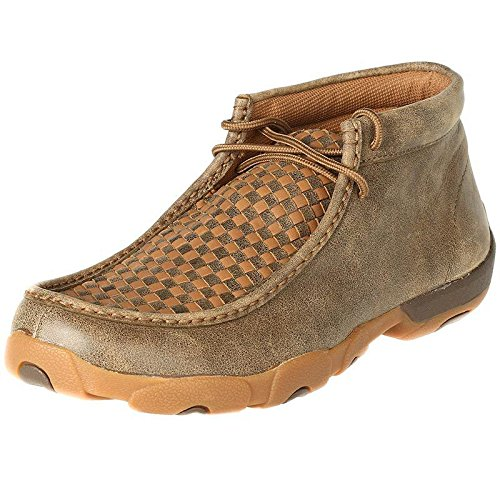 Twisted X Boots Mens Patchwork Driving Mocs 9 W Bomber/Tan by Twisted X (Image #5)