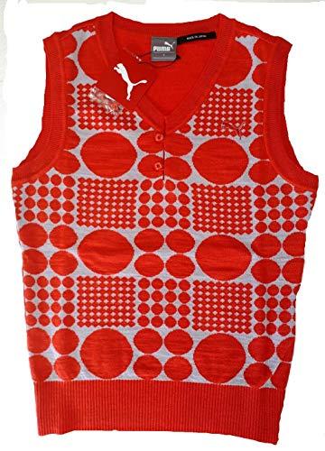 生む感じる排出PUMA(プーマ) ゴルフW ジャガードニットベスト 923218-02L カイエン レディース Lサイズ