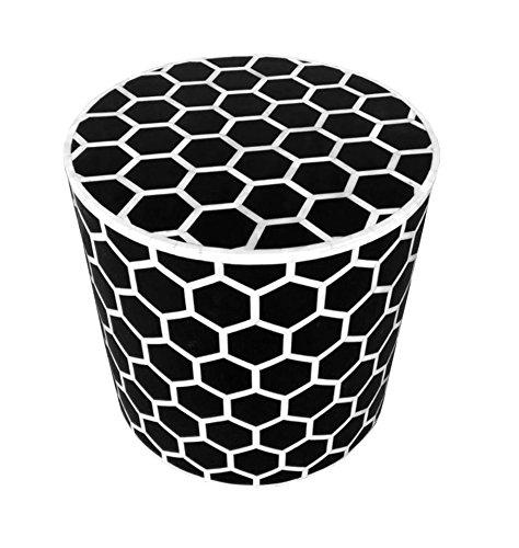- Honeycomb Bone Inlay Round Side Table