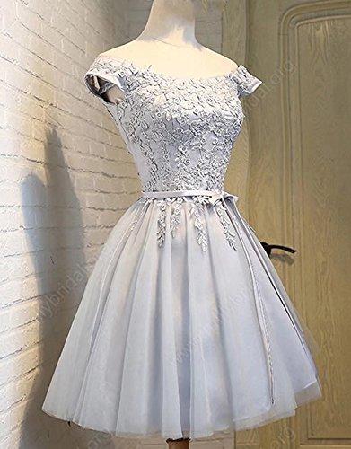 CXRK80603 Ballkleid für Prinzessin kurz Hochzeit Damen Himmelblau Partykleid Abendkleider Clearbridal 80609 Cocktailkleid Tüll qCwvXE