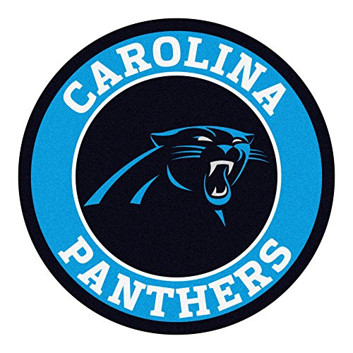 Fanmats 17953 NFL Carolina Panthers Roundel Mat,Team Color Panthers Team Color