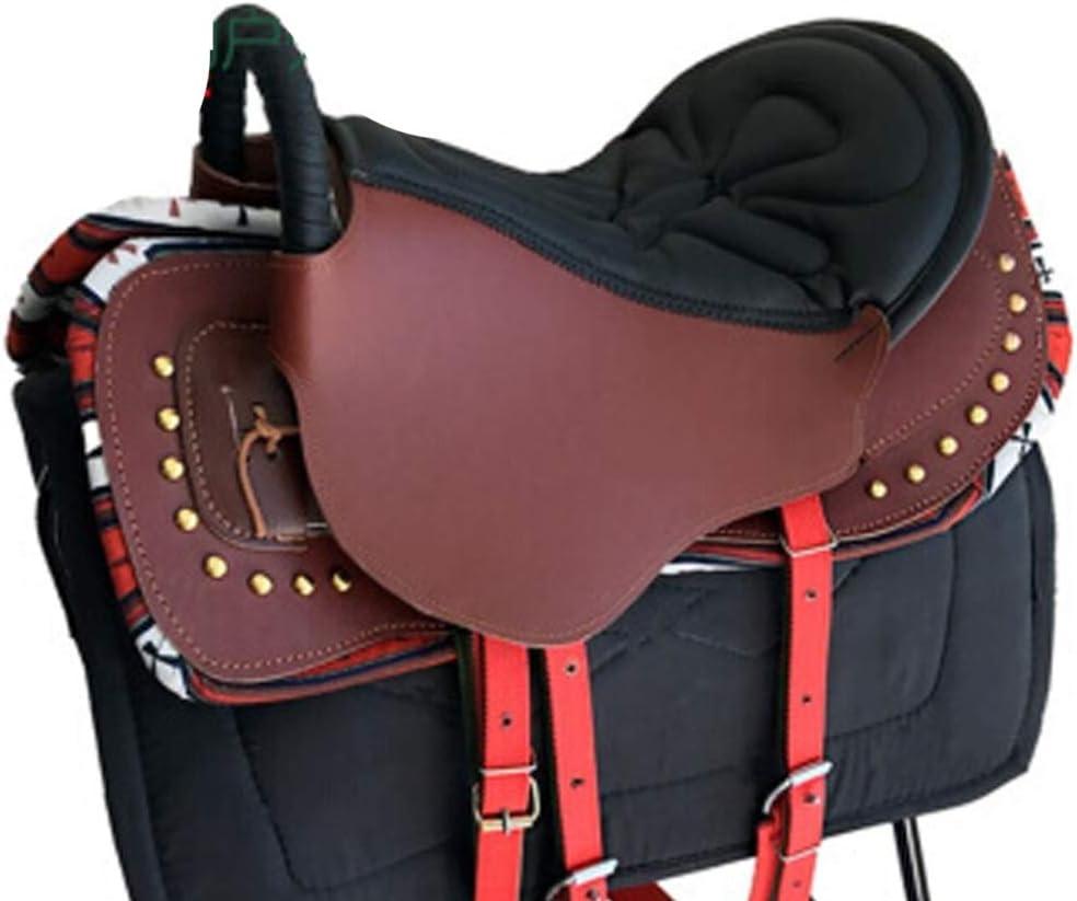 Equipamiento para caballos Mobiliario de silla de montar Expositor de silla Adornos de silla de montar Juego completo de taburete, Amortiguación Cómodo Práctico para ecuestre de ca Dark brown+red