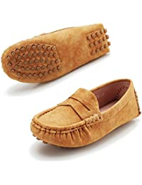 Kids Shoes Boys Loafers Dress - 2018 Shoes Boys Girls Shoes Boat Shoes Super Soft Mircro-Fbier Leather