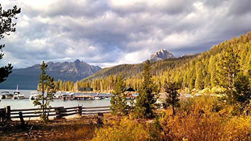 Home Comforts Framed Art for Your Wall Idaho Lake Sawtooth Mountains Nature Redfish Lake 10x13 Frame (Framed Redfish)