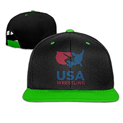 Oct USA Wrestling Logo Plain Flat Baseball Caps Classic Fitted Sized Vintage Snapbacks