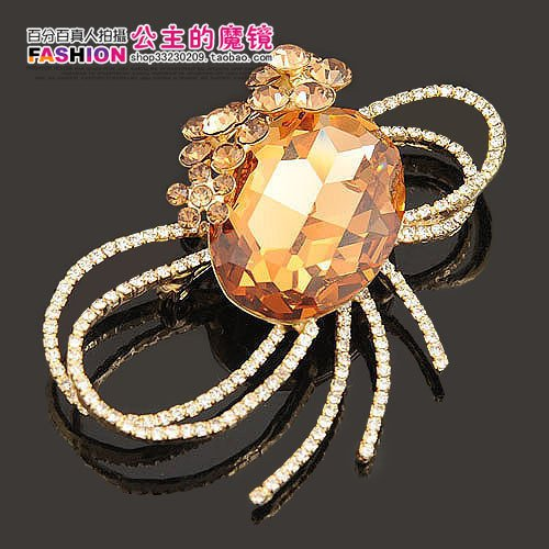 TKHNE Sunbeam jewelry counter genuine Austrian crystal brooch pin badge corsage women girls bloom