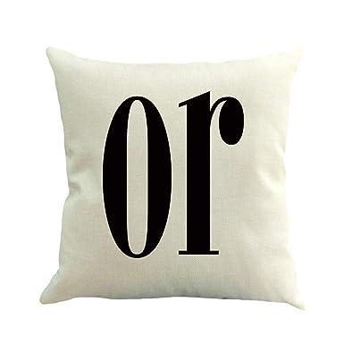 Amazon.com: LENXH - Funda de almohada de lino, 17.7 x 17.7 ...