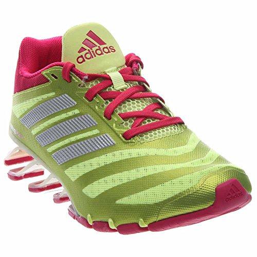 adidas Performance Women's Springblade W Running Shoe,Frozen Yellow/Bold Pink/White,9.5 M US