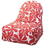 Majestic Home Goods Kick-It Chair, Plantation, Red