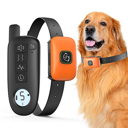 Dog Training Collar, Rechargeable Dog Shock Collar with Remote, 3 Training Modes, Beep, Vibration and Shock, 100…
