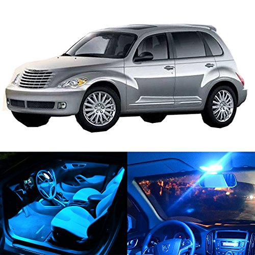 cciyu 14 Pack Ice Blue LED Bulb LED Interior Lights Accessories Replacement Package Kit Replacement fit for 2001-2010 Chrysler PT Cruiser