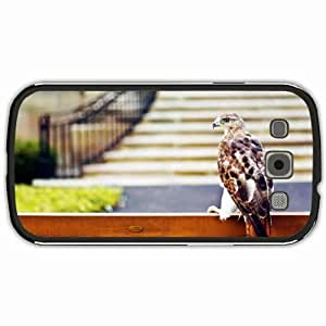 New Style Customized Back Cover Case For Samsung Galaxy S3 Hardshell Case, Black Back Cover Design Hawk Personalized Unique Case For Samsung S3