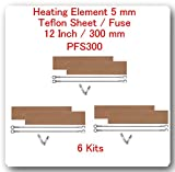 (6 Kits) Replacement Elements for Impulse Sealer