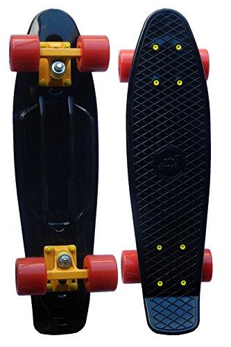 RETRO BOARDS High Quality Skateboard, Black, 22-Inch
