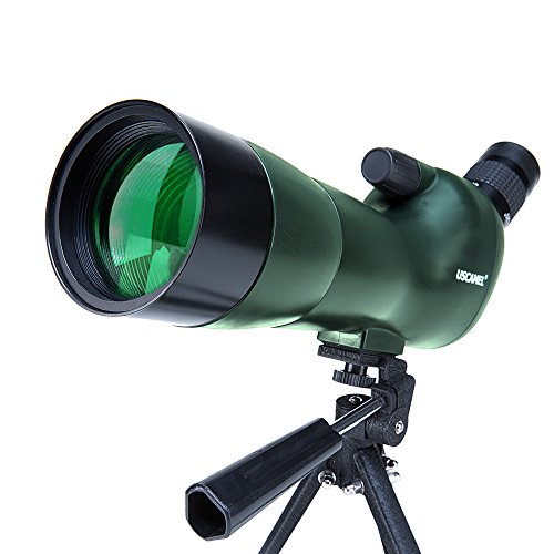 USCAMEL Bird Watching Waterproof Spotting Scope - 20-60x60 Zoom Monocular Telescope - With Handheld Tripod - with Camera Photography Adapter