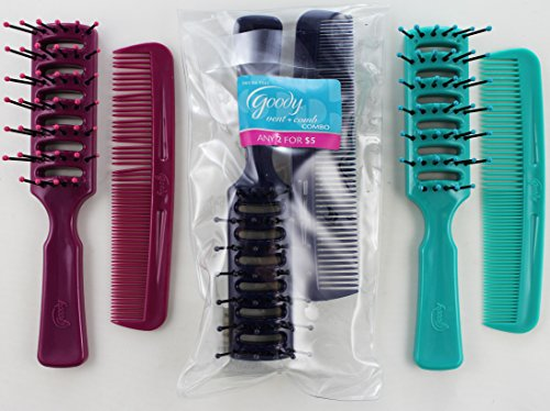 Goody Vent Brush and Detangling Comb Combo