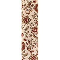 Well Woven Barclay Ashley Oriental Ivory Floral Area Rug 23 X 73 Runner