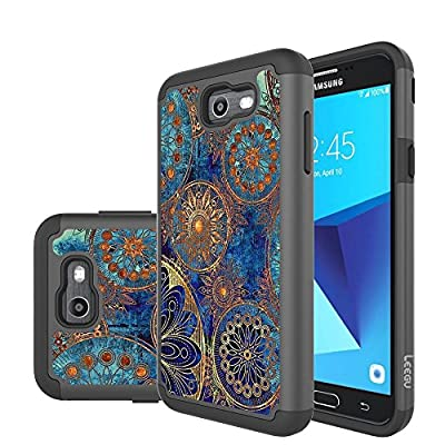 J7 V Case, J7 Perx Case, J7 Sky Pro Case, J7V Case, Galaxy Halo Case, J7 Prime Case, LEEGU Dual Layer Heavy Duty Protective Silicone Plastic Cover Case for Samsung Galaxy J7 2017 from LEEGU