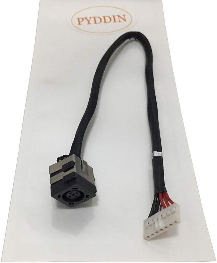New DC Power Jack in Cable Charging Port for Dell Vostro 3400 3500 3700 V3400 V3500 V3700, 50.4ES08.001, Laptop DC Jack Connector Socket Plug Harness