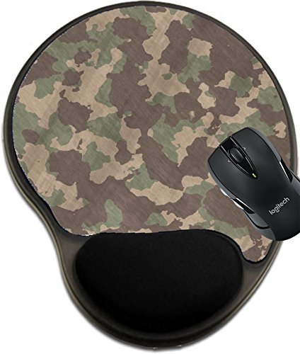 MSD Natural Rubber Mousepad Wrist Protected Mouse Pads/Mat with Wrist Support Design: 4970743 Excellent Image of Camouflage Pattern Cloth or Fabric