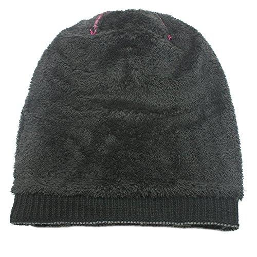 Cozy tartán Gorra Hombres Beanie Sombrero de esquí de Invierno Punto cráneo Gris Cálido Slouchy Universal Gorra Beanie Hat de Punto dSfST